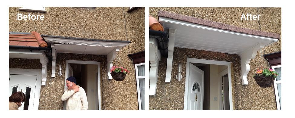 Door canopy in Harrow, North West London