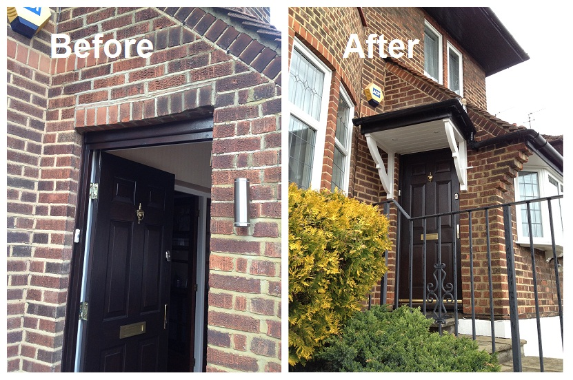 Door Canopy Installation in N12