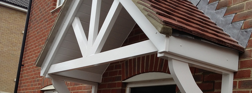 Bespoke Tiled Door Canopies & Bespoke Tiled Door Canopies | Door Canopy Installation | Summit ...