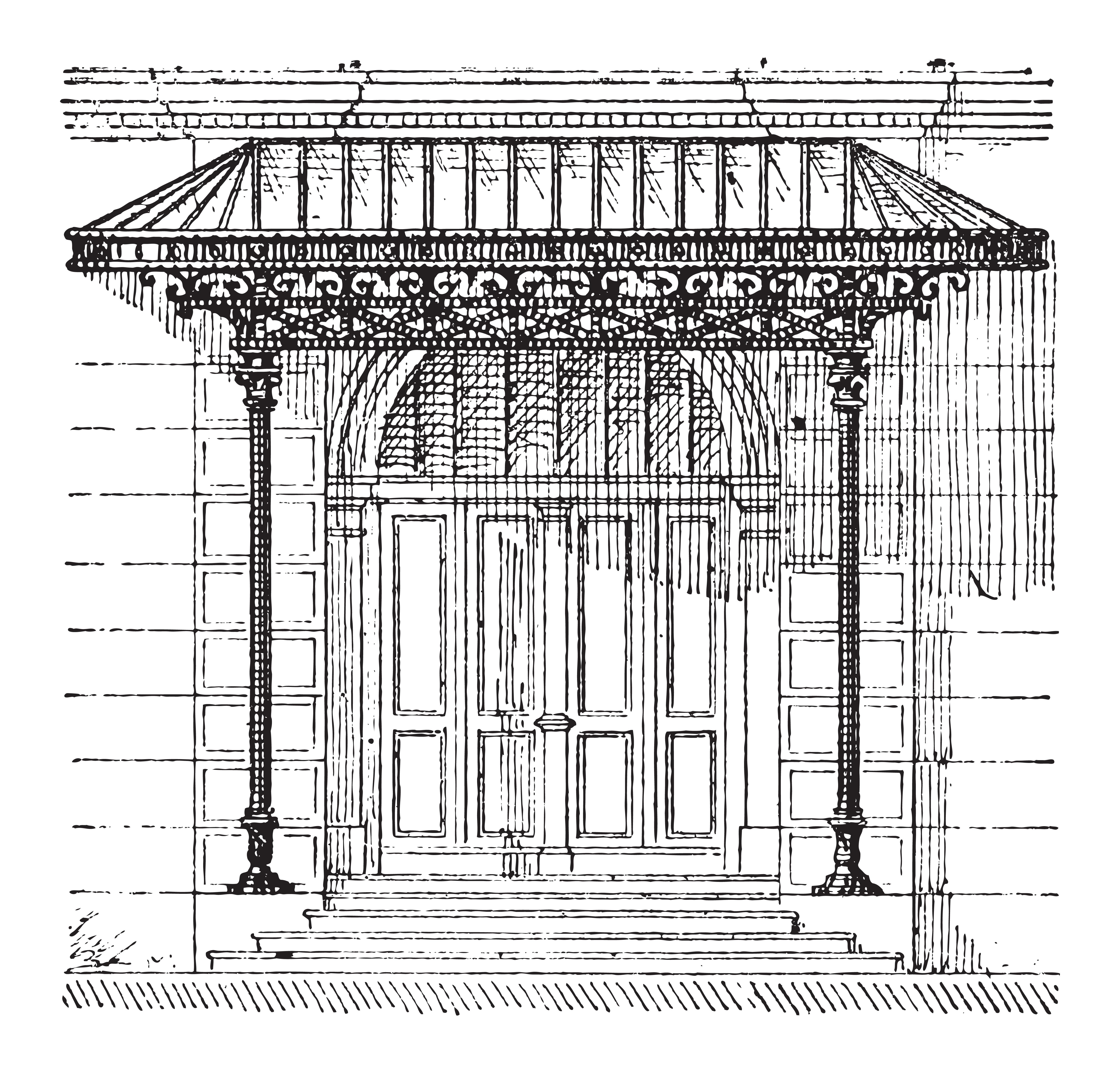 door canopy drawing london