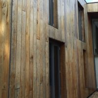 Cedar cladding after weather exposure