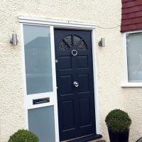 Front door without canopy