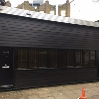 James Hardie cladding and new roof installed