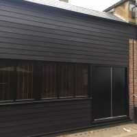 James Hardie cladding in black