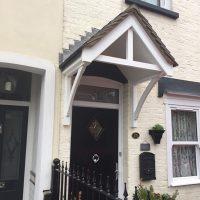 Door canopy installation Woodford Essex