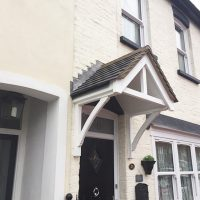 Door canopies installed in Woodford, Essex