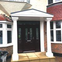 Door canopy installation in Willesden