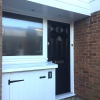 New external cupboard with cladding