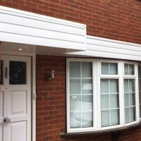White Upvc shiplap cladding