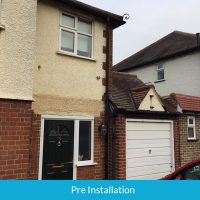 Property before door canopy installation