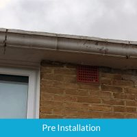 Concrete guttering removal in Camberwell South London