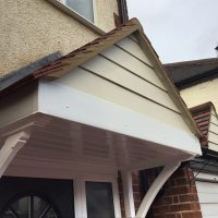 Harrow door canopy installation
