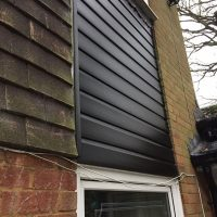 Pvc black foiled cladding