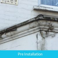 Removal of concrete gutters