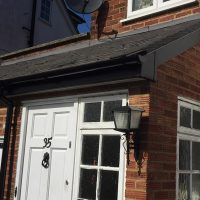 Replacement black guttering in Potters Bar, Hertfordshire