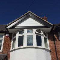 New white soffits with black fascias