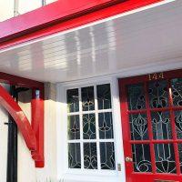 Door canopies installation