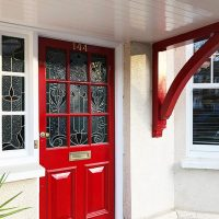 Door canopy in Muswell Hill, North London