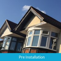 Pre installation of bargeboards and fascias