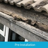 Finlock concrete guttering
