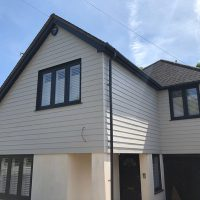 Grey concrete cladding in Epping