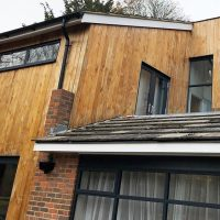 Cladding and guttering installation