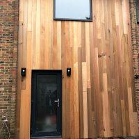 Beautiful timber cladding installation