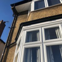 Black fascias and white soffits
