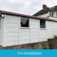 Before our stunning garage conversion
