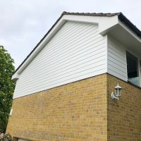 White replacement cladding in Chigwell