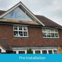 Preinstallation of new guttering in Hadley Wood