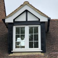 Replacement black uPVC fascias on dormer window