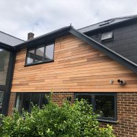 Cedarwood timber cladding in Essex
