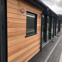 Timber cladding installation in Waltham Abbey