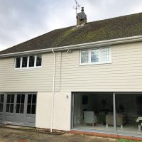 New guttering and downpipes