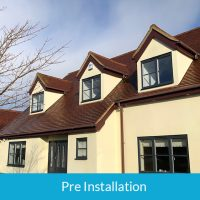 Pre installation of soffits and fascias