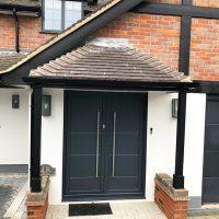 New door canopy installation in Rickmansworth