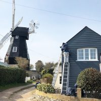 Cladding installation to match a nearby windmill